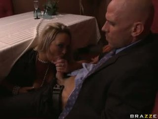 Carnal jatty abbey brooks gets her mouth filled with a man meat sausage