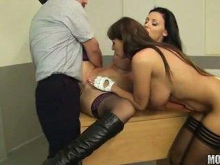 great brunette, hardcore sex, real blow job