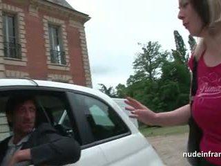Französisch milf schwer banged und jizzed auf titten von ein taxi driver