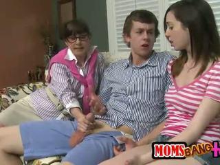 sexo grupal, transsexual grande, quente trindade quente