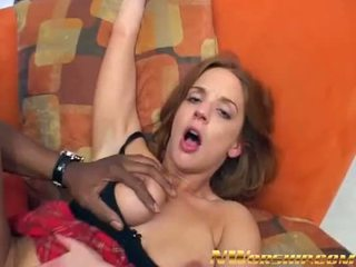 Redhead girl takes a big black cock in the ass interracial porn