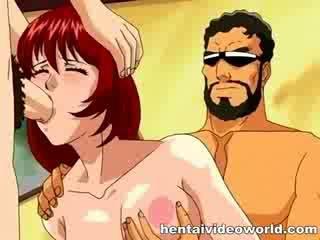 Dp met reusachtig tekenfilm cocks