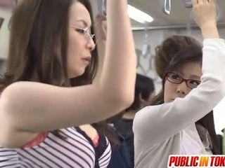 Asiática mãe id como para bang licks rooster em autocarro xxx festa