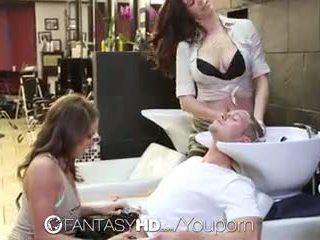 Fantasyhd - babes lily ve holly var tuvalet en beauty salon