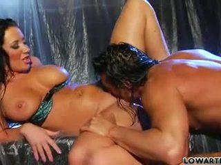 Jayden James lick the long body of a hard dick
