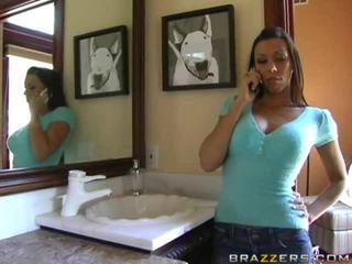 brunete, skaistas krūtis, lielas krūtis