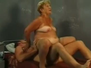 Granny and young cock