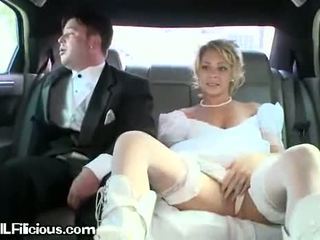 noiva, carro, brides