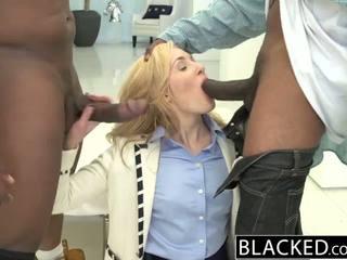 Blacked 2 liels melnas dicks par bagātie baltie meitene