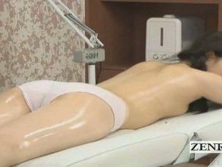 Subtitled japonsko šolarka prva čutno olje masaža