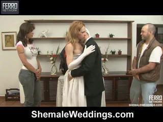 Mengen van speelfilmen door shemale weddings