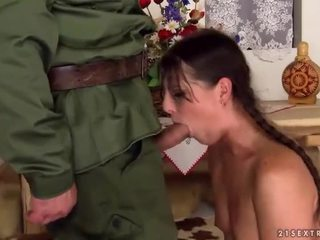 Girl gets fucked rough by old man