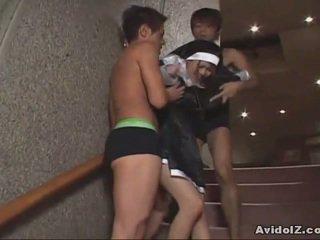 Japans babe gedwongen naar zuigen lul uncensored