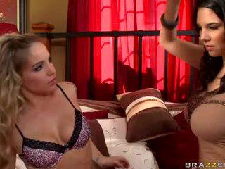 Missy martinez và sienna milano đồng tính nữ babes tình yêu bubbles rubbing