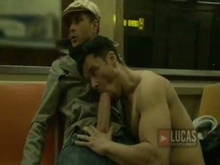 kouření, velký péro gay orální, guy big dick gay