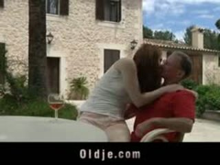 Wrinkled Old Man Fucked By Horny Teen