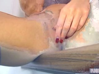 Gina masturbating - pussy massage using her vibrator