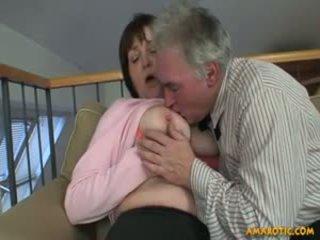 große brüste, reift, milfs
