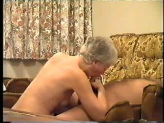 Granny loves sucking cock Video