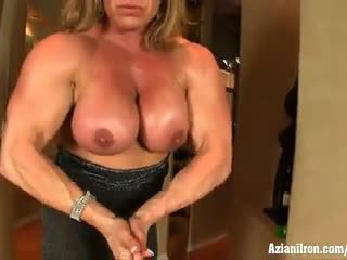 Aziani Iron mature bodybuilder Wanda M...