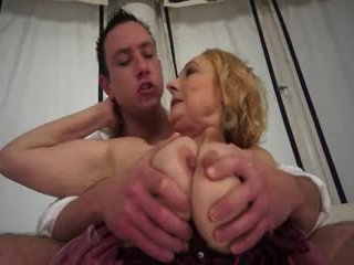 Granniy fucked by young Stud