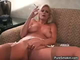 Brooke Smokes And Rubs Her Cunt Part2