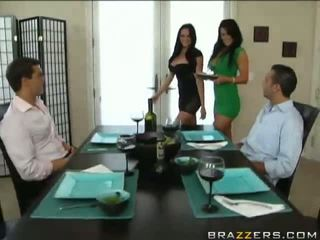 full brunettes sex, foursome fuck, quality hot clip