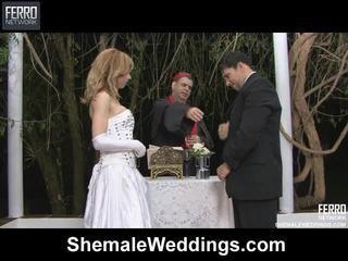 Mengen van alessandra, engel, senna door shemale weddings