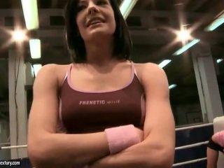 more brunette watch, hot lesbian best, lesbian fight