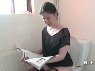 Amateur french mom seduces boy and get...