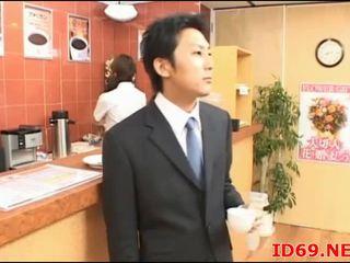 Japán av modell aranyos iroda lány