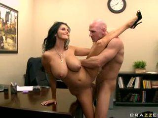 lielas krūtis, visvairāk birojs jauks, jautrība office sex liels