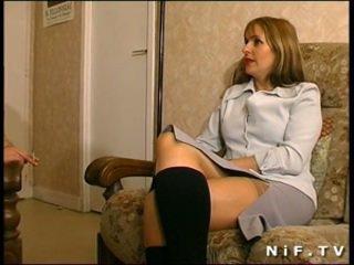 Fransk mamma gets anal knullet
