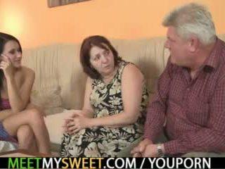 ناضج, threesome teen, threesome mom