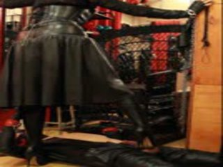 Trampling in Leather: Free BDSM Porn Video e5