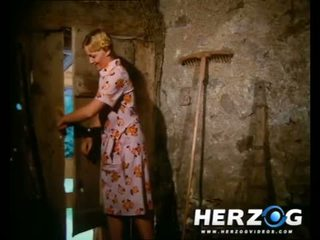 Sexy bavarian blondine getting banged in de barn