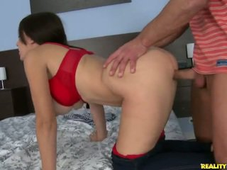 Euro girl getting fucked in clothes