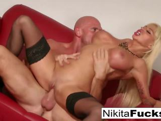 Russian MILF Nikita Takes a Big Dick Before Eating His