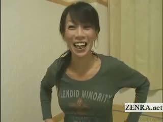 Subtitled แก่แล้ว female ญี่ปุ่น bodybuilder stripping