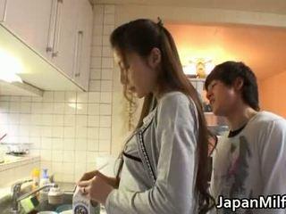 japonés, cocina, milf