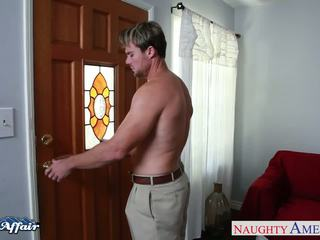 Terangsang rambut pirang bridgette b. hubungan intim dia tetangga