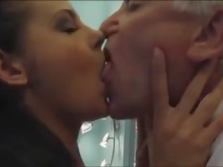 Old Man Calls a Sexy Young Escort Girl with Nice Boobs &