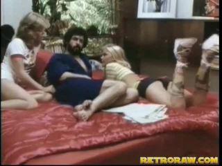 threesome sex, alleta threesome, retro porno