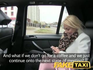 Faketaxi si rambut perang pelanggan seduced oleh taxi driver
