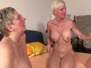 XXX Omas - Foursome Fuck for Naughty German Blonde.