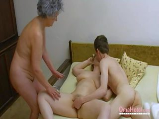Omahotel Old Threesome Hairy Mature Masturbation: Porn 0d