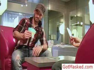 Amazing Pierced Hunk Playing Undress Poker By Gotmasked