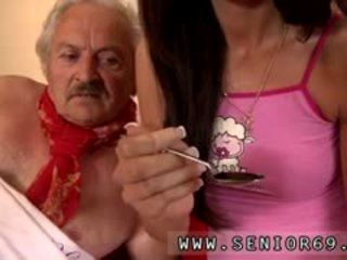 Young Girl And Very Old Man Girl Male Fortunately There Is A