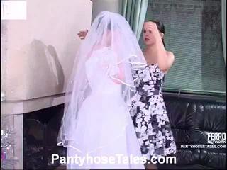 noiva, vídeos, sexo lésbico