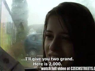 捷克语 学院 女孩 户外 性别 为 现金